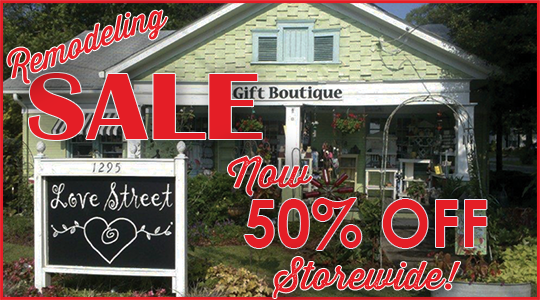 50 percent off Storewide at Love Street Gifts
